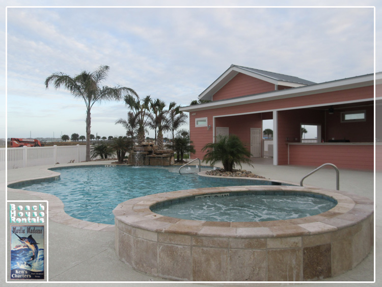 Marlin Madness Beach House Rentals at Commodore Accommodations in Port Aransas, Texas.