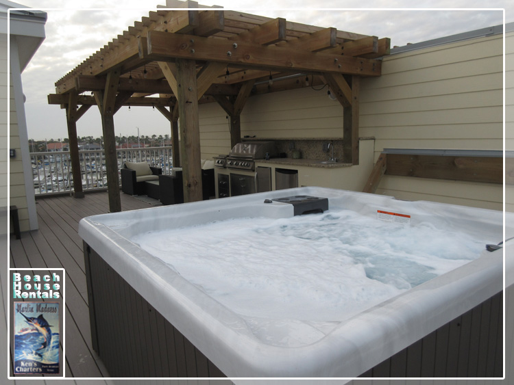 Marling Madness Beach House Rentals Commodore Accommodations in Port Aransas, Texas.