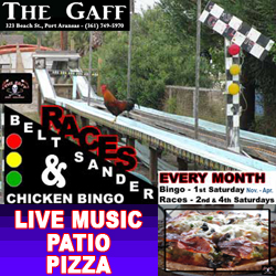 The Gaff Bar in Port Aransas, Texas.